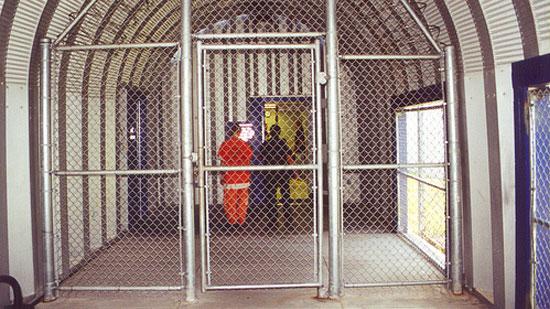 A prison gate