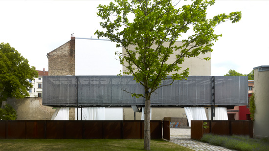 Exterior View of the BMW Guggenheim Lab in Berlin